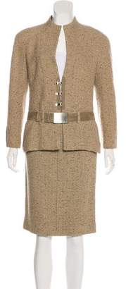Chanel Wool Structured Skirt Suit w/ Tags