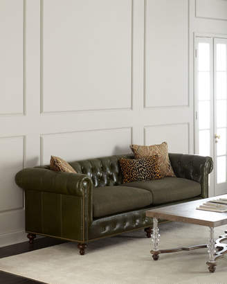 Massoud Envy Tufted Leather Sofa