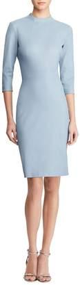 Ralph Lauren Matilda 3/4-Sleeve Leather Bodycon Dress