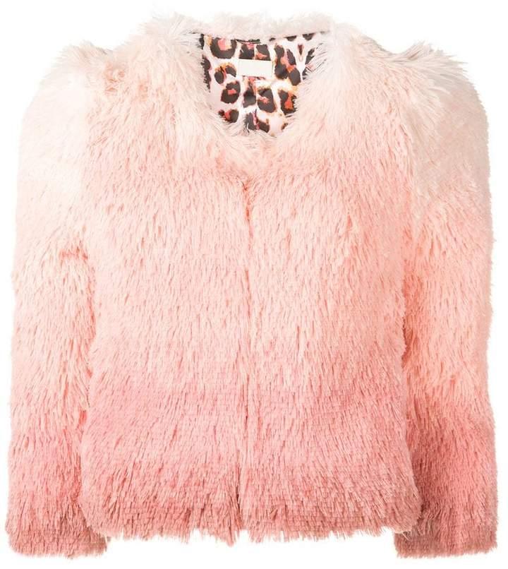 gradient fluffy jacket