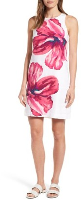 Women's Tommy Bahama Kavala Blossoms Linen Shift Dress $148 thestylecure.com