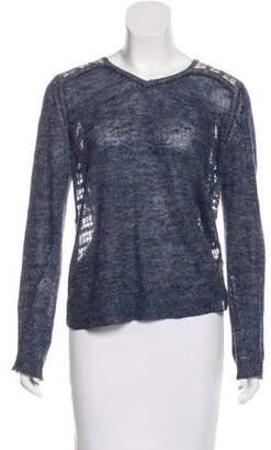 Theyskens' Theory Linen Open Knit Sweater