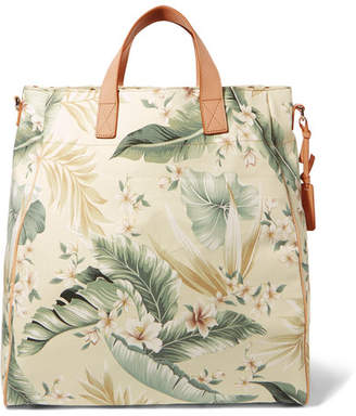 Zimmermann Tropical Palm Printed Canvas Tote - Gray green