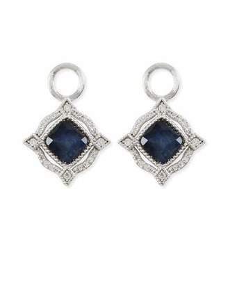Jude Frances Lisse 18K Delicate Cushion Blue Labradorite Earring Charms with Diamonds