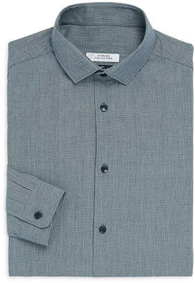 Versace Trend-Fit Textured Dress Shirt