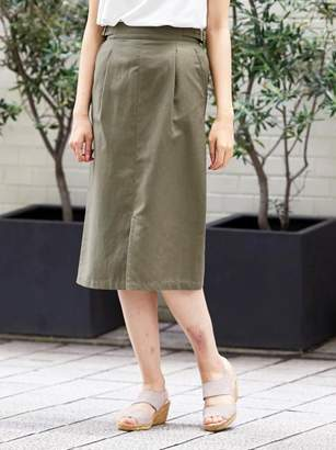 Perle Peche (ペルル ペッシュ) - ペルルペッシュ サイドベルトロングタイトスカート