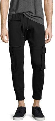 Helmut Lang Skinny Cargo Jogger Pants, Black $360 thestylecure.com