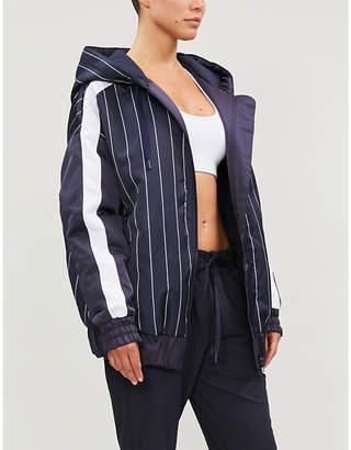 Lorna Jane Wind Runner drawstring-hood satin jacket