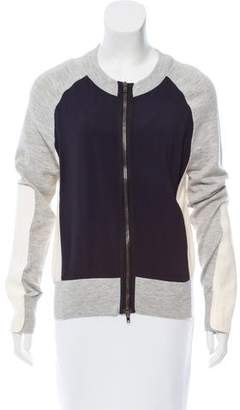 Reed Krakoff Leather-Accented Knit Jacket
