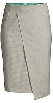 BOSS Women's Vureta Houndstooth Faux-Wrap Skirt