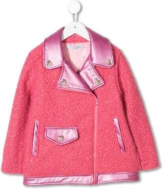 Vivetta Kids faux-shearling biker jacket