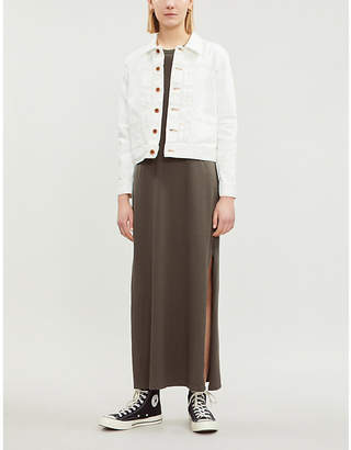 AG Jeans Eliette contrast-stitch denim jacket