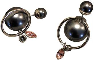 Christian Dior Tribal Anthracite Pearls Earrings