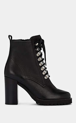 Barneys New York Women's Leather Lace-Up Ankle Boots - Black
