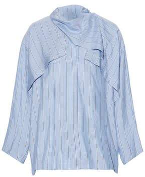 J.W.Anderson Layered Striped Silk-Satin Blouse
