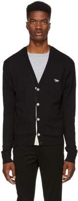 MAISON KITSUNÉ Black Tricolor Fox Patch Cardigan