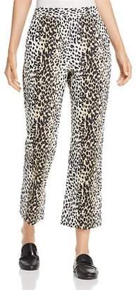 Max Mara Rino Cropped Flared Leopard-Print Pants