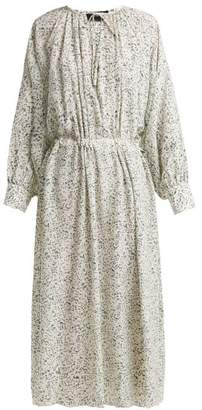 Joseph Niven Mineral Print Silk Crepe Dress - Womens - Cream Print