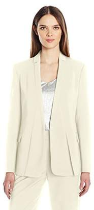 Halston Women's Long Sleeve Jacket with Notch Detail