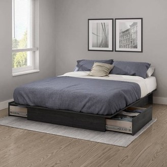 South Shore Furniture South Shore SoHo Storage Platform Bed with 2 Drawers, Multiple Sizes and Finishes