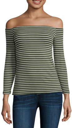 A.N.A a.n.a 3/4 Sleeve Ribbed Cold Shoulder Top $26 thestylecure.com