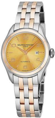 Baume & Mercier Women's Clifton 30mm Steel Bracelet Automatic Watch 10351