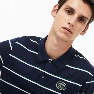 Lacoste Men's Regular Fit Striped Cotton Interlock Polo