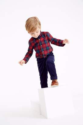 Next Boys Red Tartan Shirt And Trousers Set (3mths-7yrs) - Red