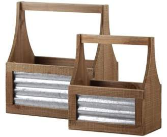 Urban Trends Collection: Wood Caddy Natural Finish Brown
