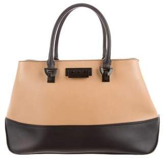 Zac Posen Bicolor Leather Satchel