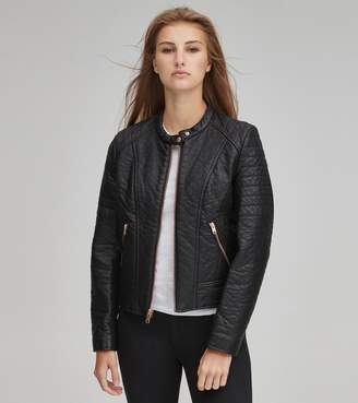 Andrew Marc Final Sale BLAKELY FAUX LEATHER MOTO JACKET