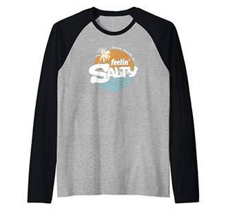 Feelin' Salty Beach Shirt Cocoa Beach FL Raglan Baseball Tee