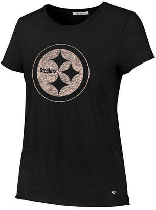 '47 Women's Pittsburgh Steelers Letter Crew T-Shirt