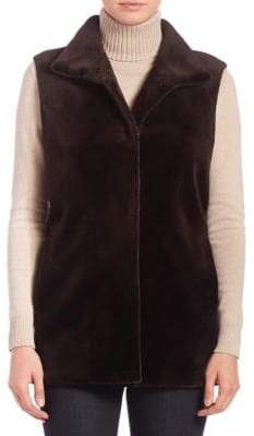 The Fur Salon Sheared Mink Fur Vest