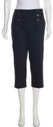 Magaschoni Mid-Rise Straight-Leg Pants
