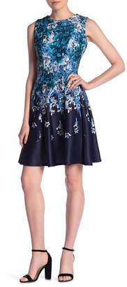 Gabby Skye Floral Print Scuba Dress