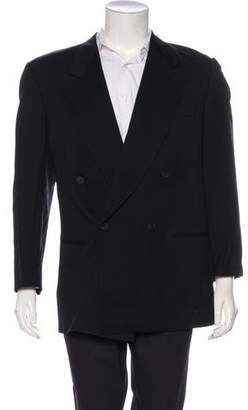 Giorgio Armani Double-Breasted Virgin Wool Blazer