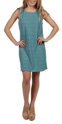 24/7 Comfort Apparel 24Seven Comfort Apparel Carson Aqua Shift Dress