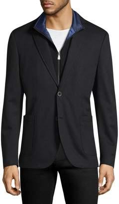 Hart Schaffner Marx Men's Broderick Technical Outerwear Jacket with Detachable Knit Bib