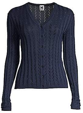 M Missoni Women's Long Sleeve Knit Cardigan