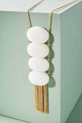 Anthropologie Tumbled Stone Ladder Pendant Necklace