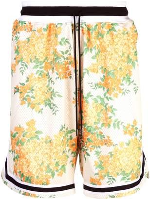 John Elliott floral print perforated shorts