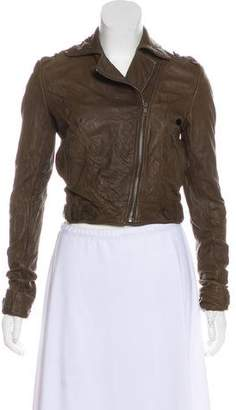 Gryphon Zip-Up Leather Jacket
