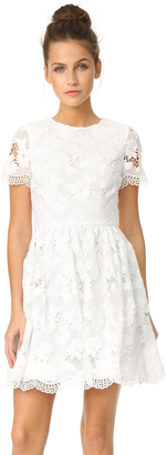 alice + olivia Karen Crew Neck Party Dress $495 thestylecure.com