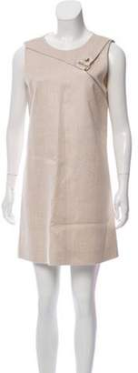 Bouchra Jarrar Woven Mini Dress Beige Woven Mini Dress