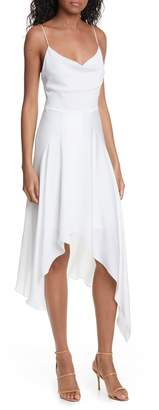 Alice + Olivia Alita Drape Detail Asymmetrical Hem Dress