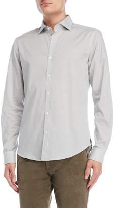 Gaudi' Gaudi White & Black Printed Sport Shirt