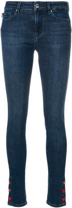 Love Moschino heart detail skinny jeans