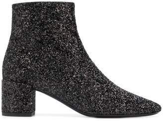 Saint Laurent Lou sequin boots