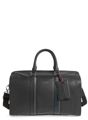 Ted Baker Geeves Stripe Leather Duffel Bag